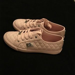 Guess sneakers New in Box. Light pink.